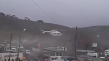 Helicopter carrying Bolivia president near crashes after spinning out of control