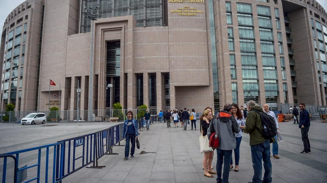 International observers outside Istanbul courthouse where the trial of Turkish journalists took place on June 19, 2017. (File photo: AFP)