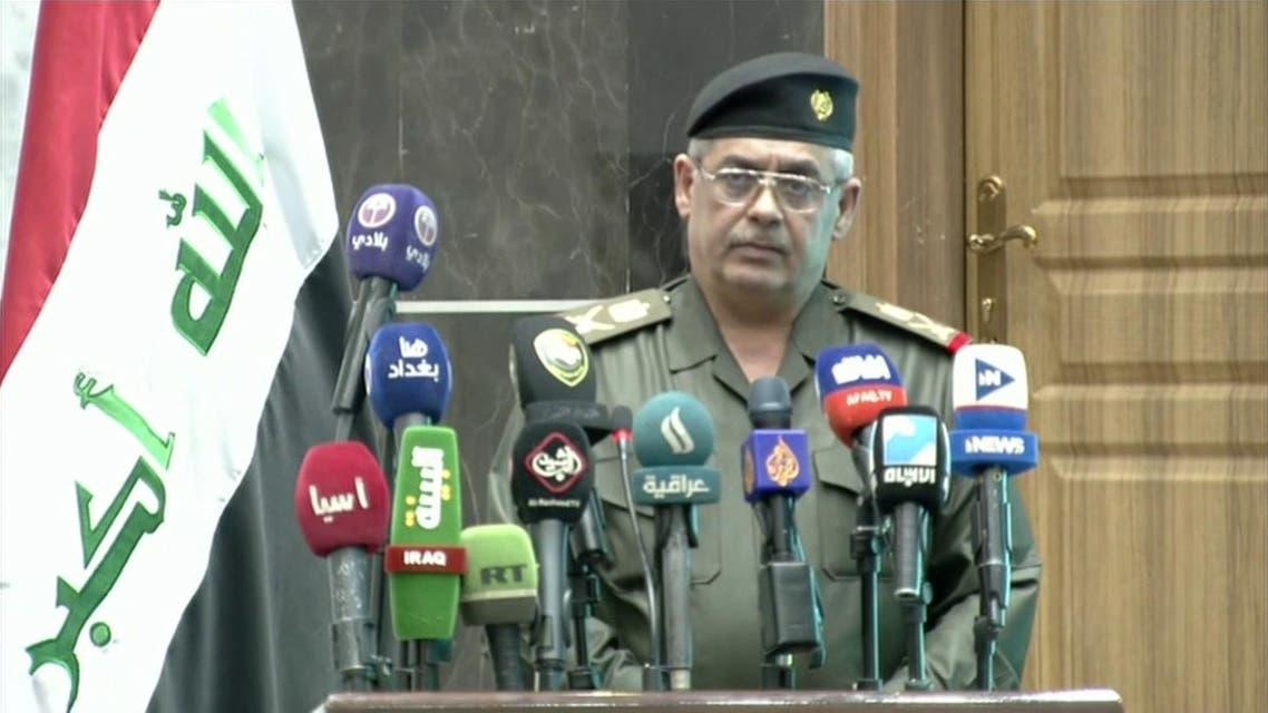 Abdul Kareem Khalaf, the Iraqi prime minister's spokesperson. (Screen grab)