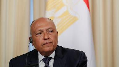 سامح شكري: الاتفاق الموقع بين السراج وأردوغان يعقد الوضع في ليبيا