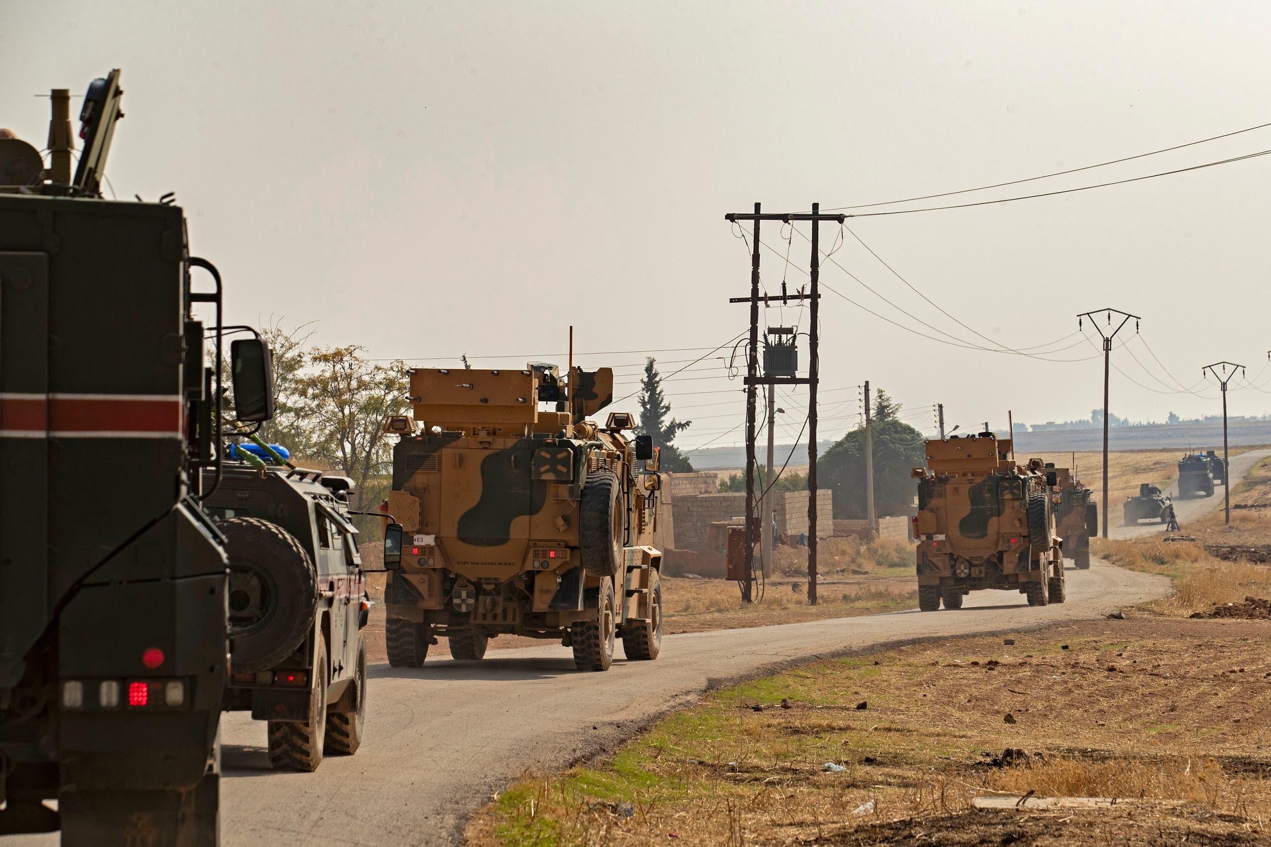 دوريات تركية روسية مشتركة شمال سوريا ا(فرانس برس)