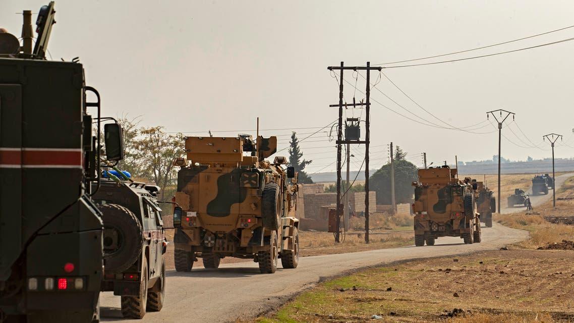 الدرباسية سوريا(فرانس برس)دوريات تركية روسية مشتركة في