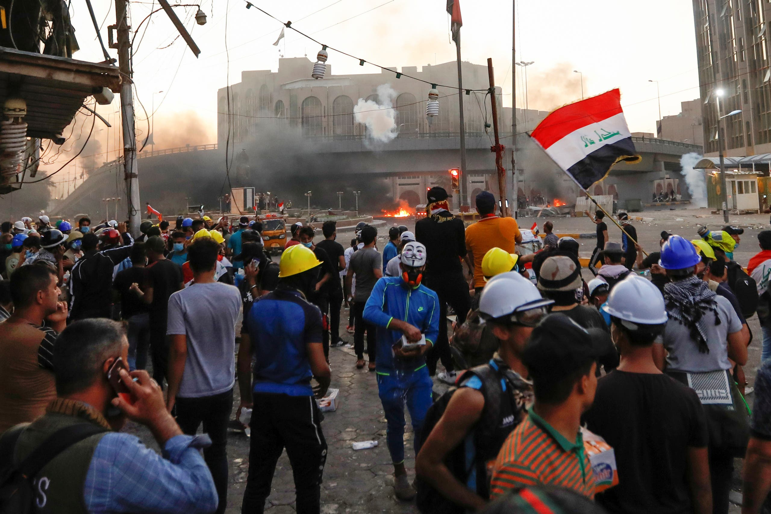 من تظاهرات العراق(5 نوفمبر- رويترز)