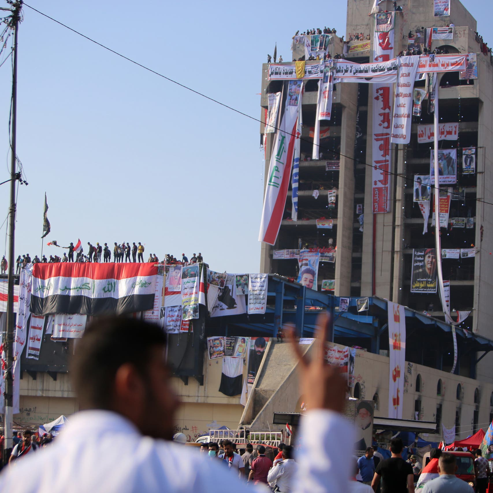 """""""أيقونة تظاهرات العراق"""".. تحويل المطعم التركي إلى متحف"""