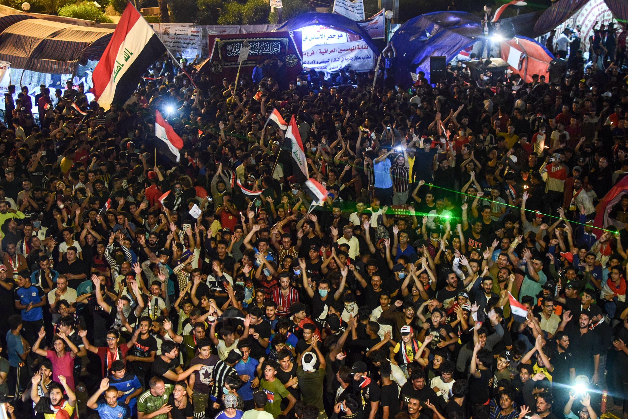 من تظاهرات العراق(فرانس برس)