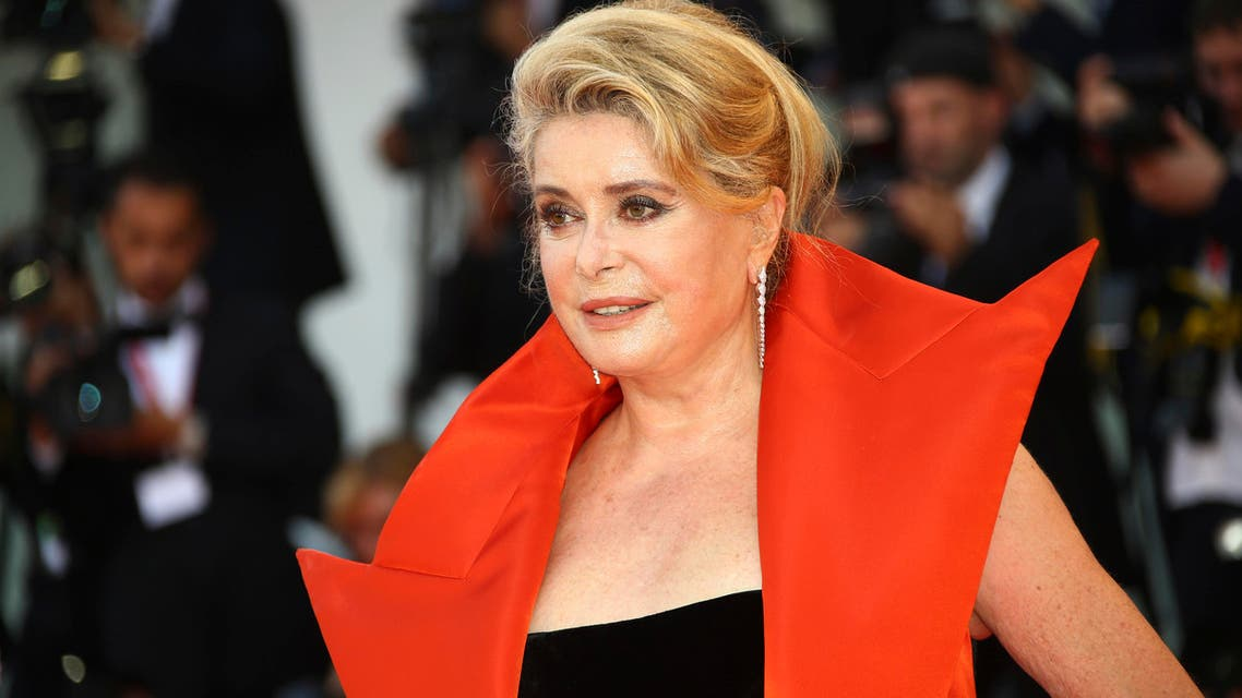 Actress Catherine Deneuve poses for photographers upon arrival at the premiere of the film 'The Truth' and the opening gala of the 76th edition of the Venice Film Festival, Venice, Italy, Wednesday, Aug. 28, 2019.(AP)