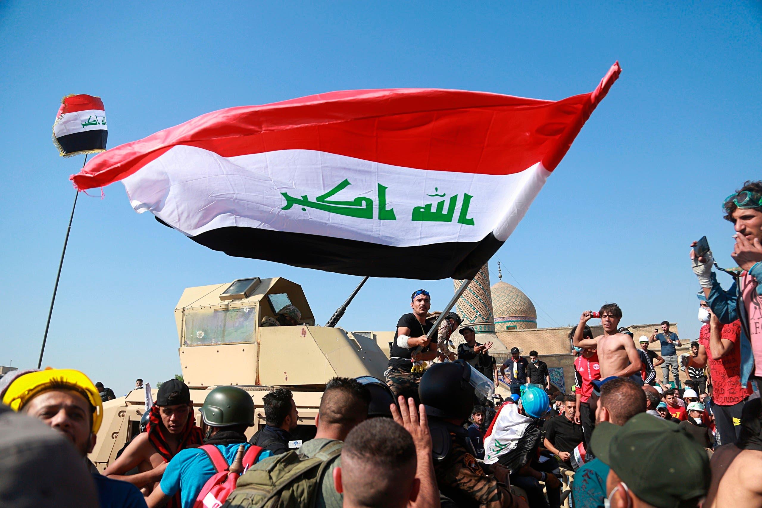 تظاهرات العراق 6 نوفمبر اسوشيتد برس