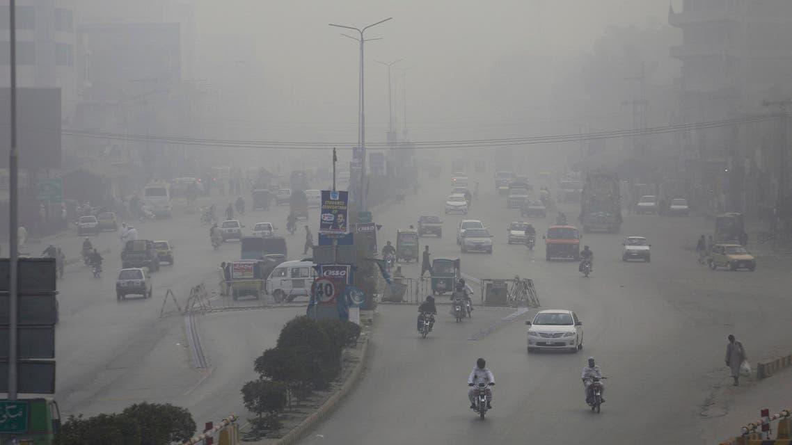 File photo Pakistan air quality, smog (AP)