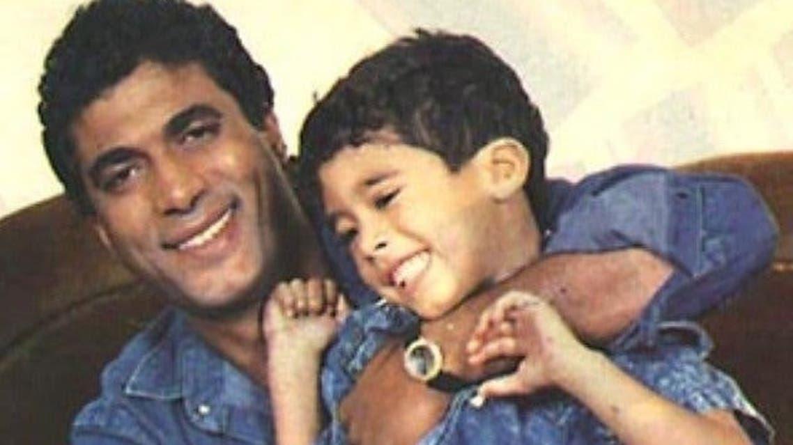 أحمد زكي وابنه هيثم