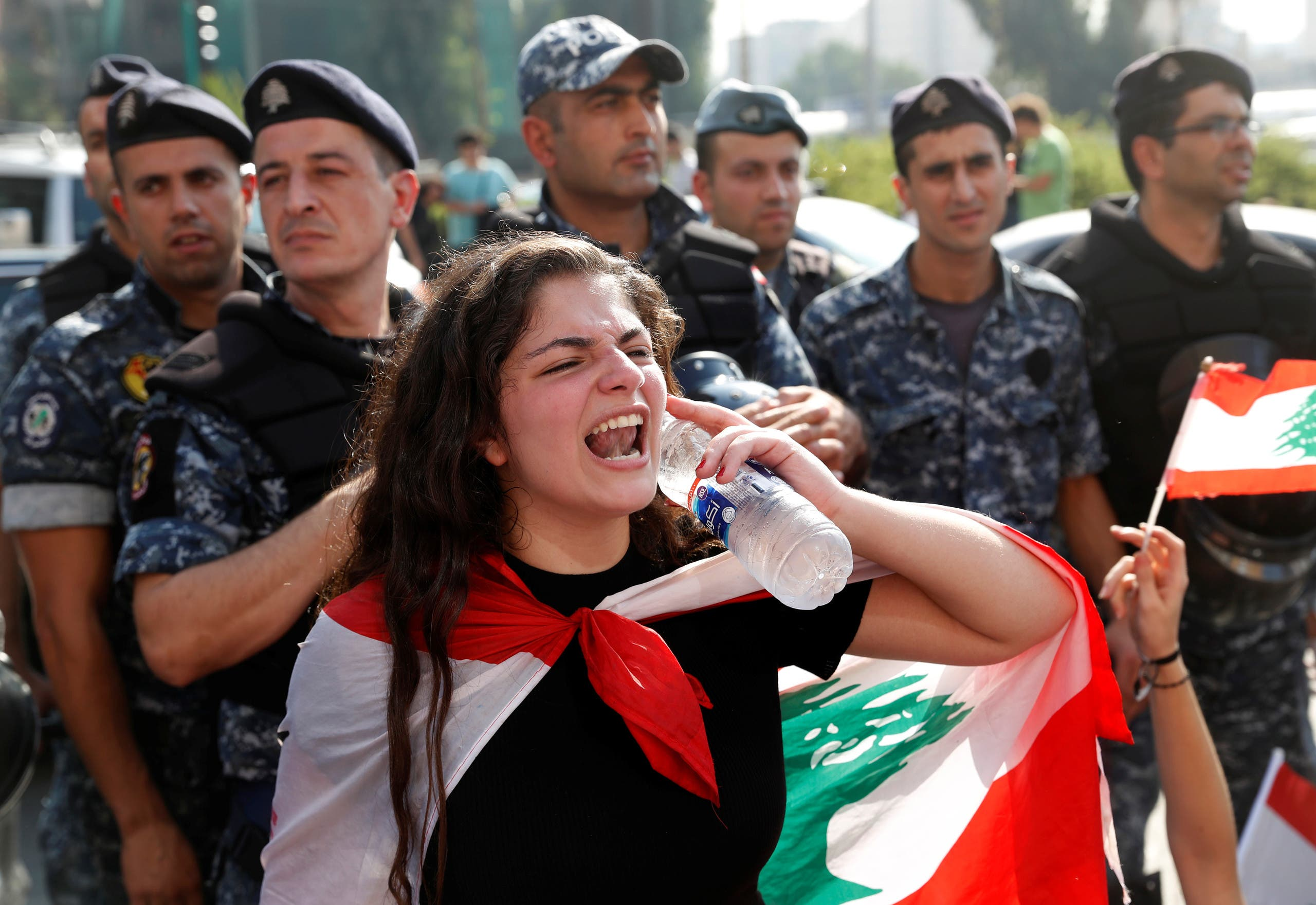 احتجاجات طلابية في بيروت