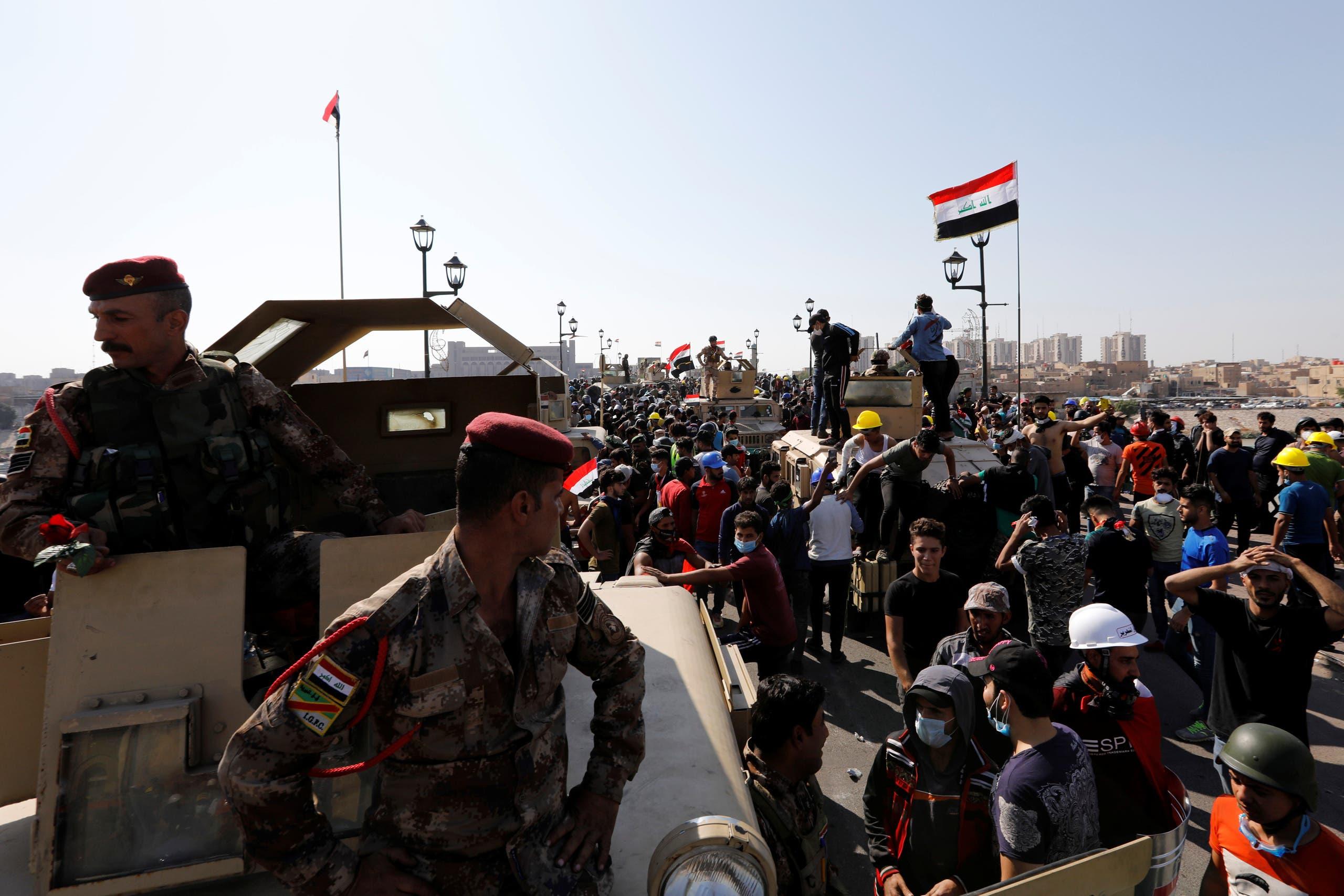 من بغداد الأربعاء