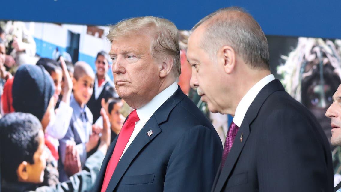 ترمب وأردوغان في بروكسل