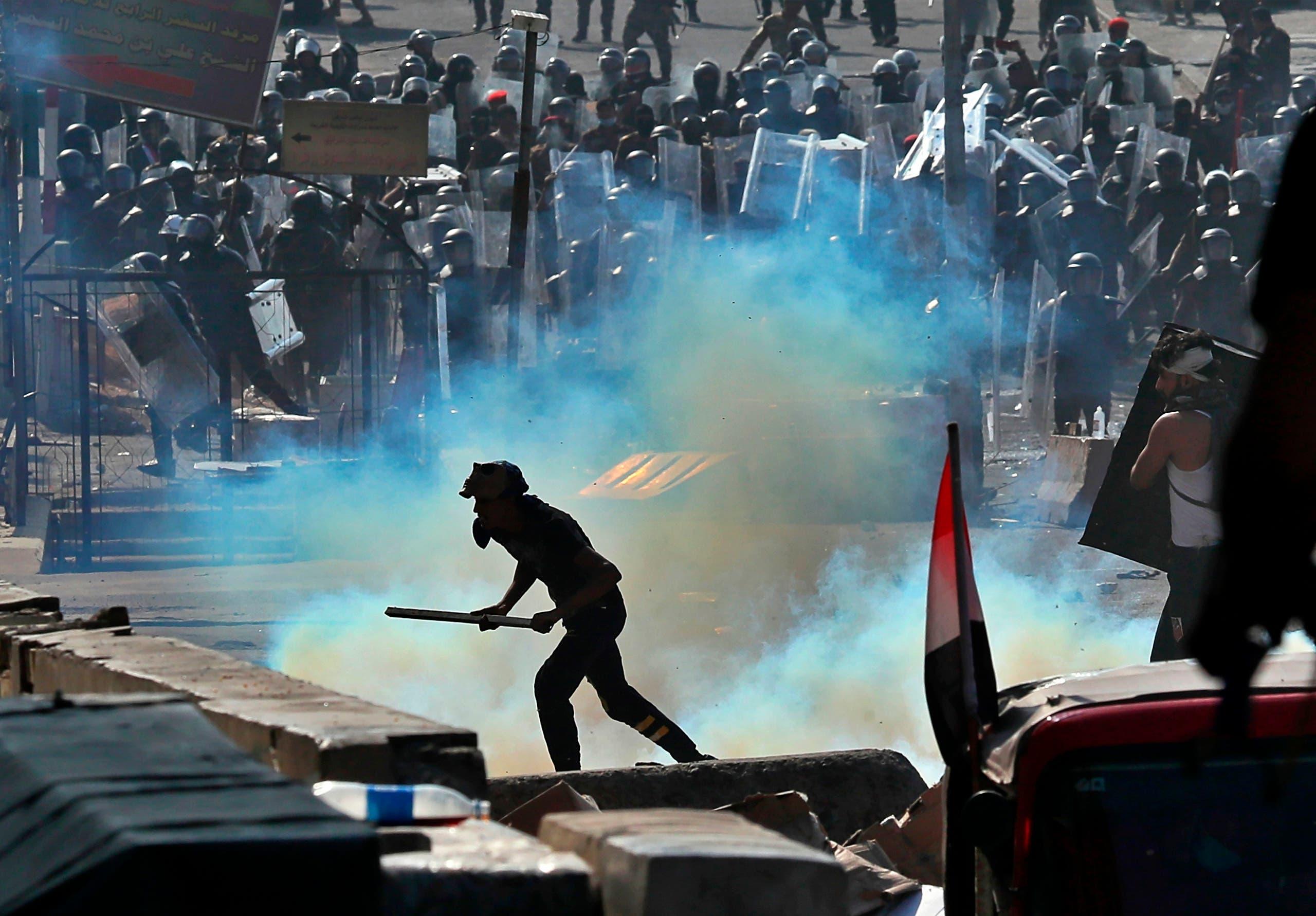 نتيجة بحث الصور عن قنابل ايرانية الصنع تستخدم ضد المتظاهرين في العراق