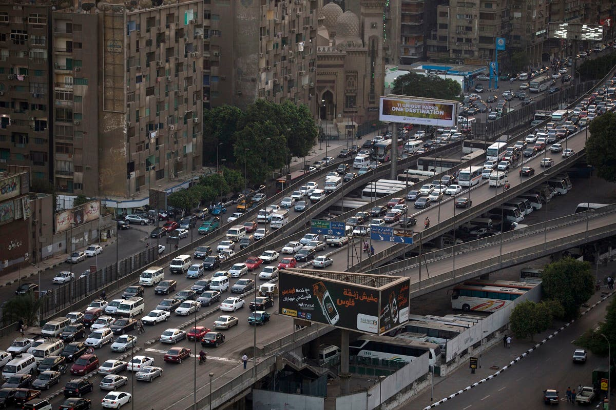 In this Oct. 7, 2013, file, photo, cars are bumper to bumper on a bridge in Cairo, Egypt. (AP)