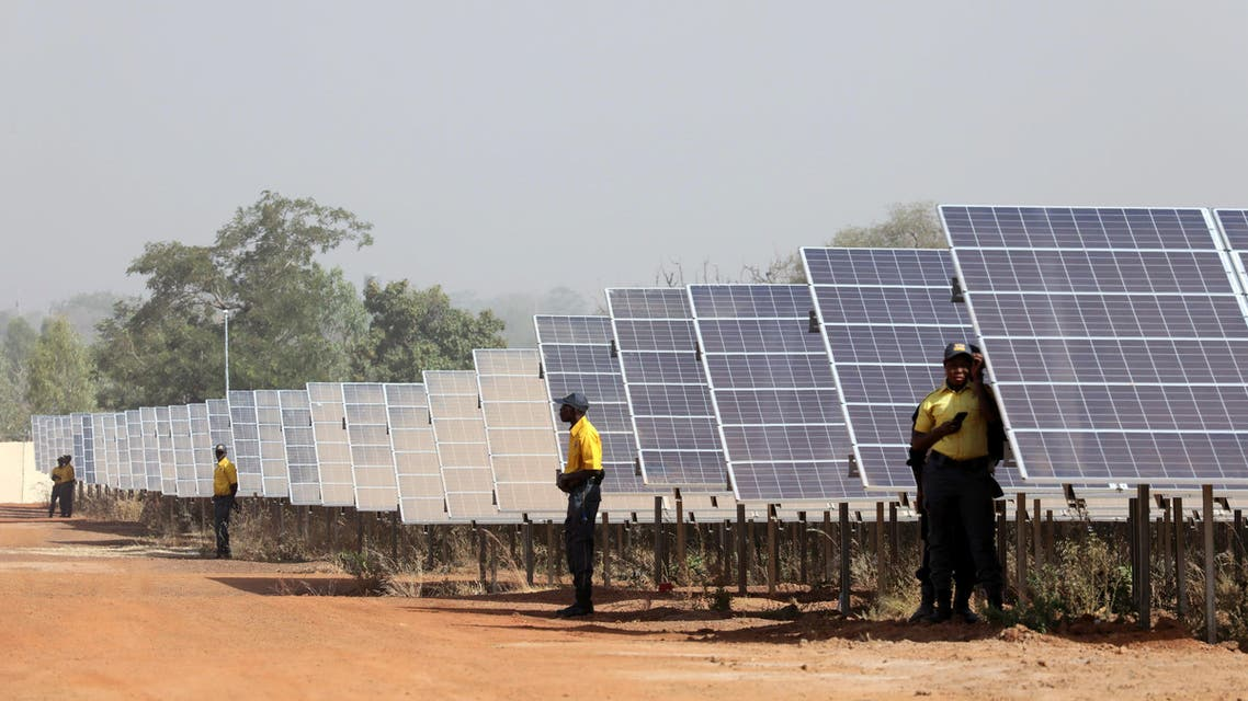 DATE IMPORTED:29 November, 2017Solar panels are seen during the inauguration ceremony of the solar energy power plant in Zaktubi, near Ouagadougou, Burkina Faso, November 29, 2017. REUTERS/Ludovic Marin/Pool