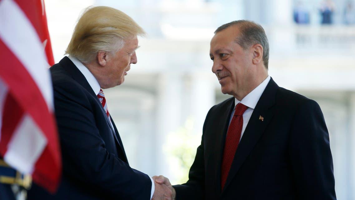 لقاء سابق بين ترمب وأردوغان بواشنطن في مارس 2017