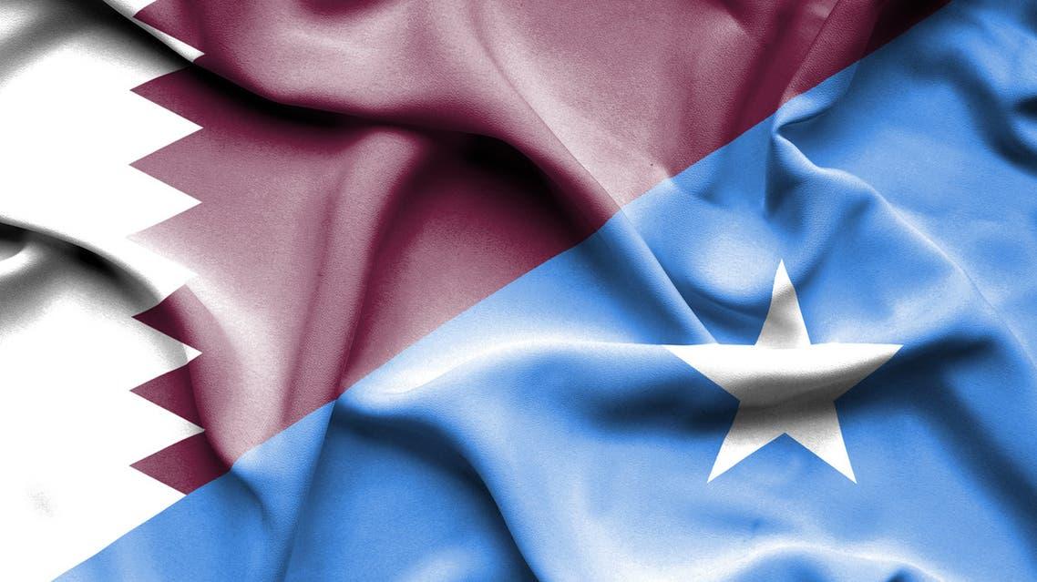 أعلام قطر و الصومال
