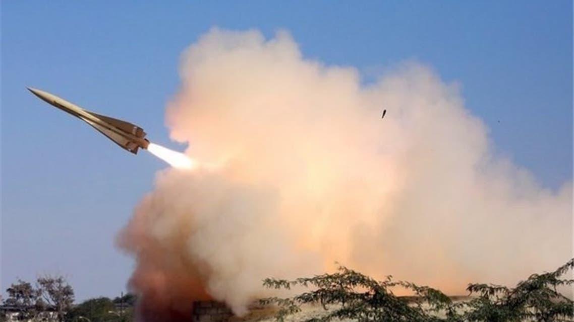صاروخ دفاع جوي إيراني من الطراز الذي استخدم لإسقاط الطائرة المسيرة