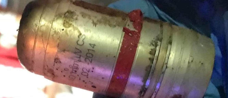 قنابل مستخدمة ضد المتظاهرين