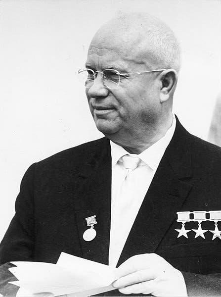 صورة للقائد السوفيتي نيكيتا خروتشوف