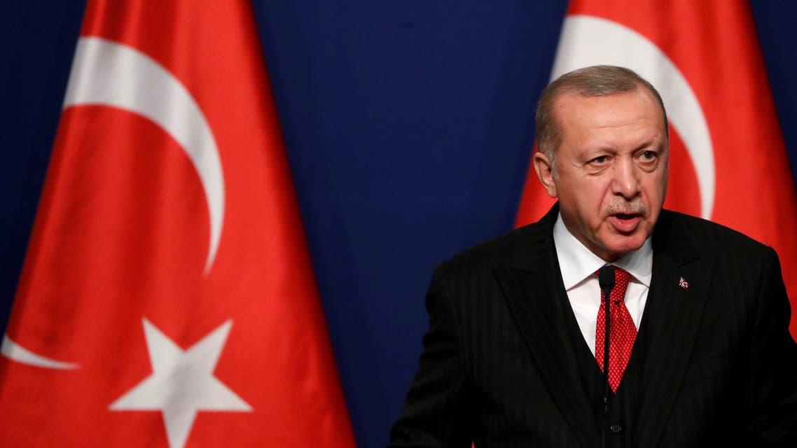 Turkey President Recep Tayyip Erdogan in Budapest November 7 2019 REUTERS