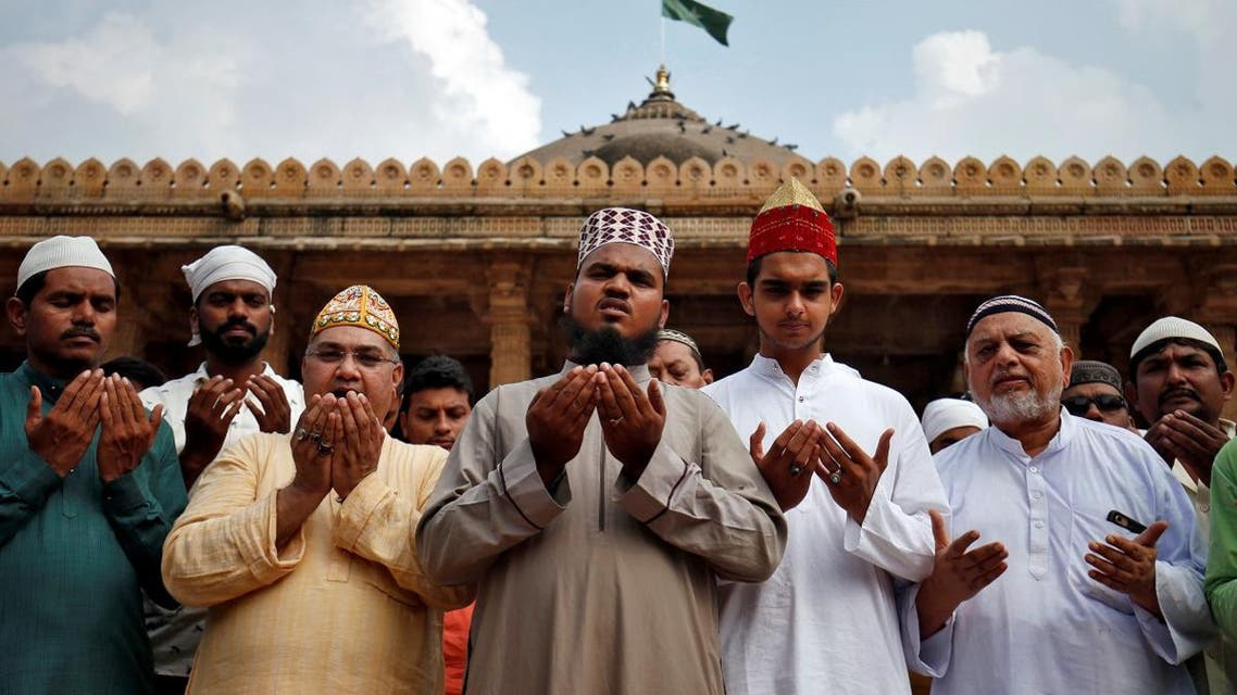 Muslims pray for peace ahead of verdict on a disputed religious site in Ayodhya, inside a mosque premises in Ahmedabad, India, November 8, 2019. REUTERS