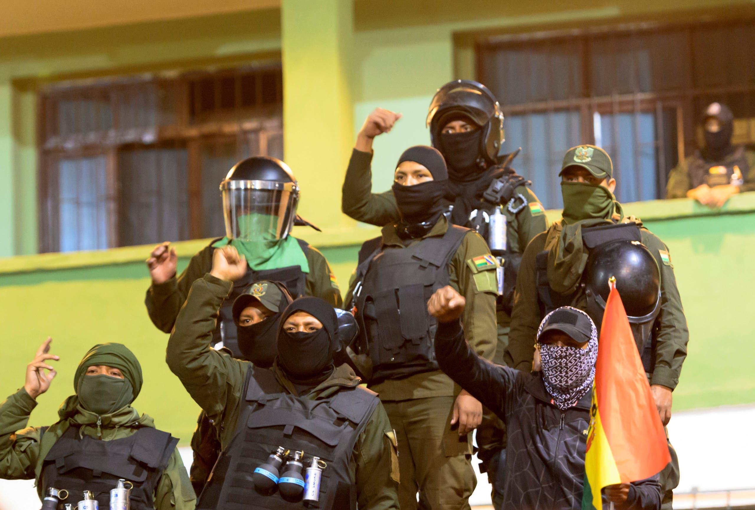 من انقلاب وحدات الشرطة البوليفية ضد الرئيس موراليس