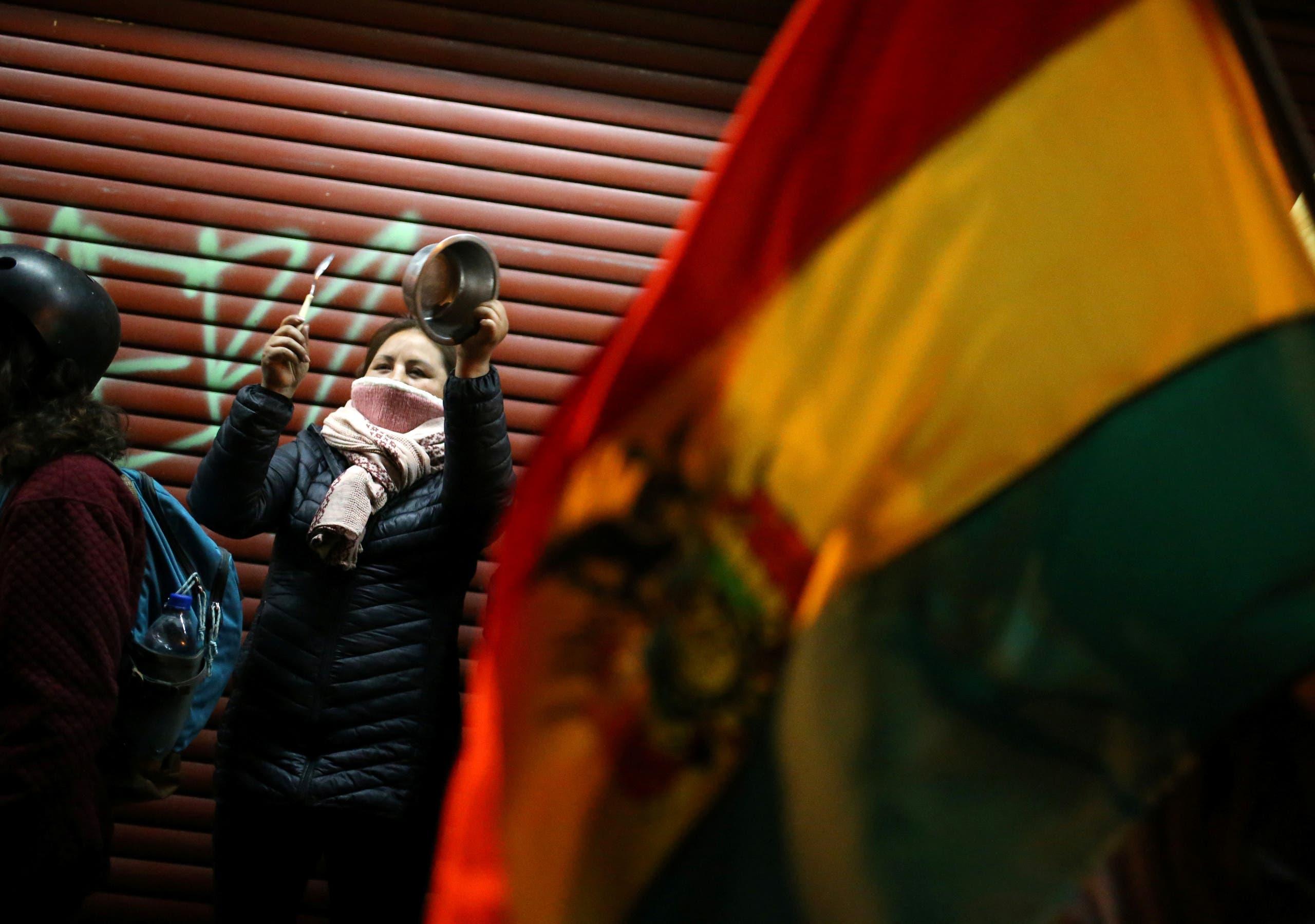 الاحتجاجات في بوليفيا ضد الرئيس موراليس