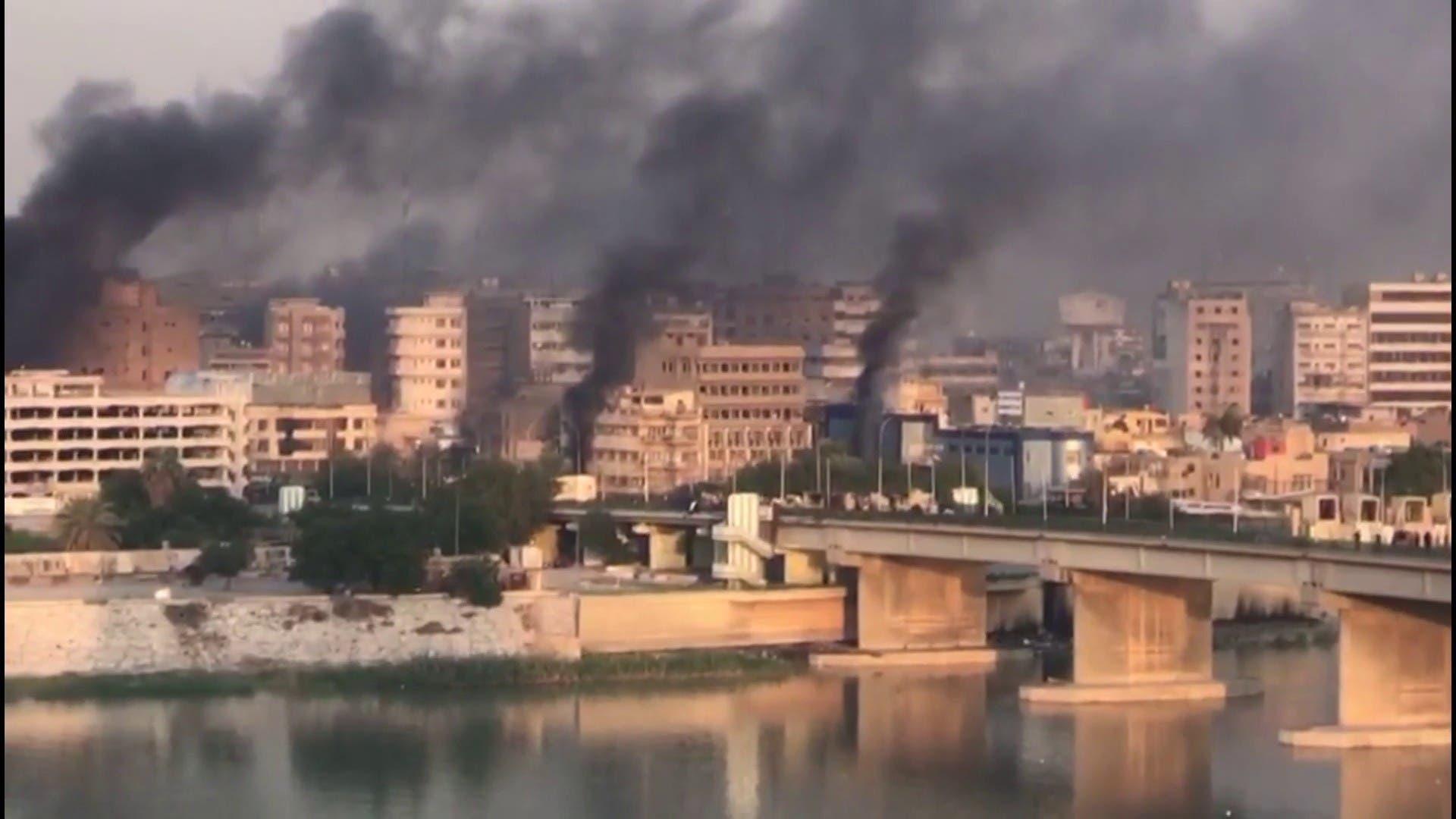 من فض التظاهرات في بغداد