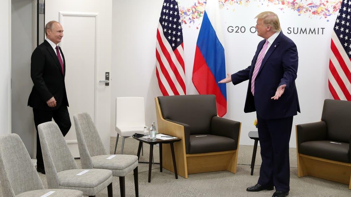 US Donald Trump Vladimir Putin G20 Osaka June 28 2019