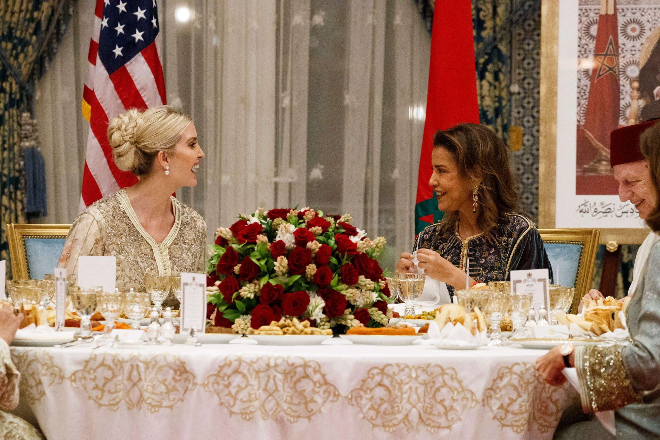 مع الأميرة لالة مريم شقيقة العاهل المغربي