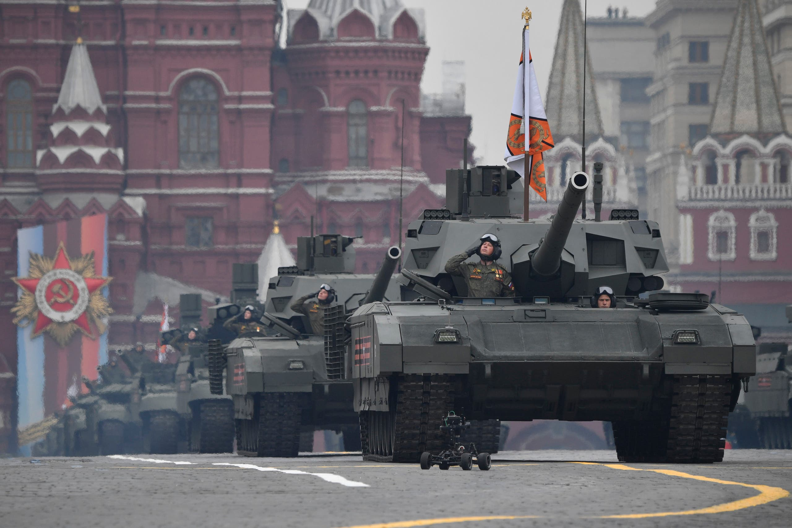 من احتفالات يوم النصر في موسكو في مايو الماضي