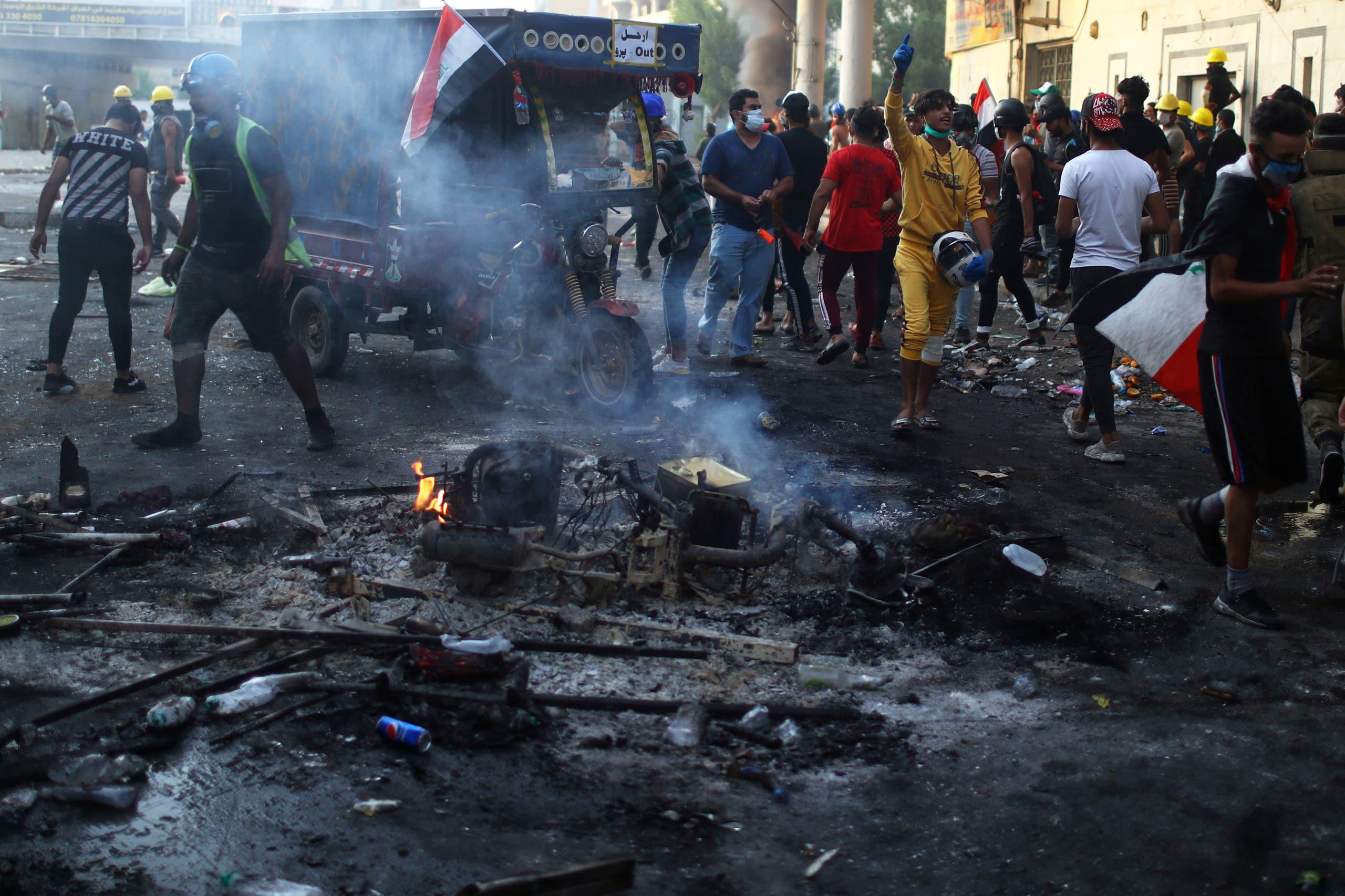 من احتجاجات بغداد السبت