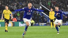 Leicester's Vardy says 100-goal Premier League milestone yet to sink in