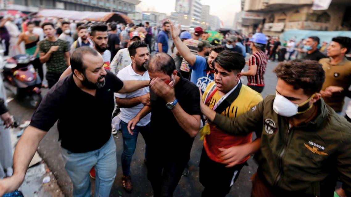 من التظاهرات في بغداد السبت