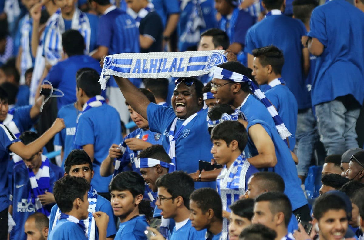 General view of Al Hilal fans inside the stadium before the Asian Champions League Final - First Leg - against Urawa Reds, at King Saud University Stadium, Riyadh, Saudi Arabia, on  November 9, 2019 .(Reuters)