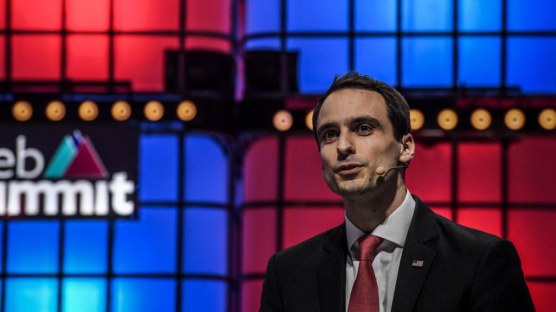 United States White House CTO Michael Kratsios delivers a speech on the last day of the Web Summit in Lisbon on November 7, 2019. (AFP)