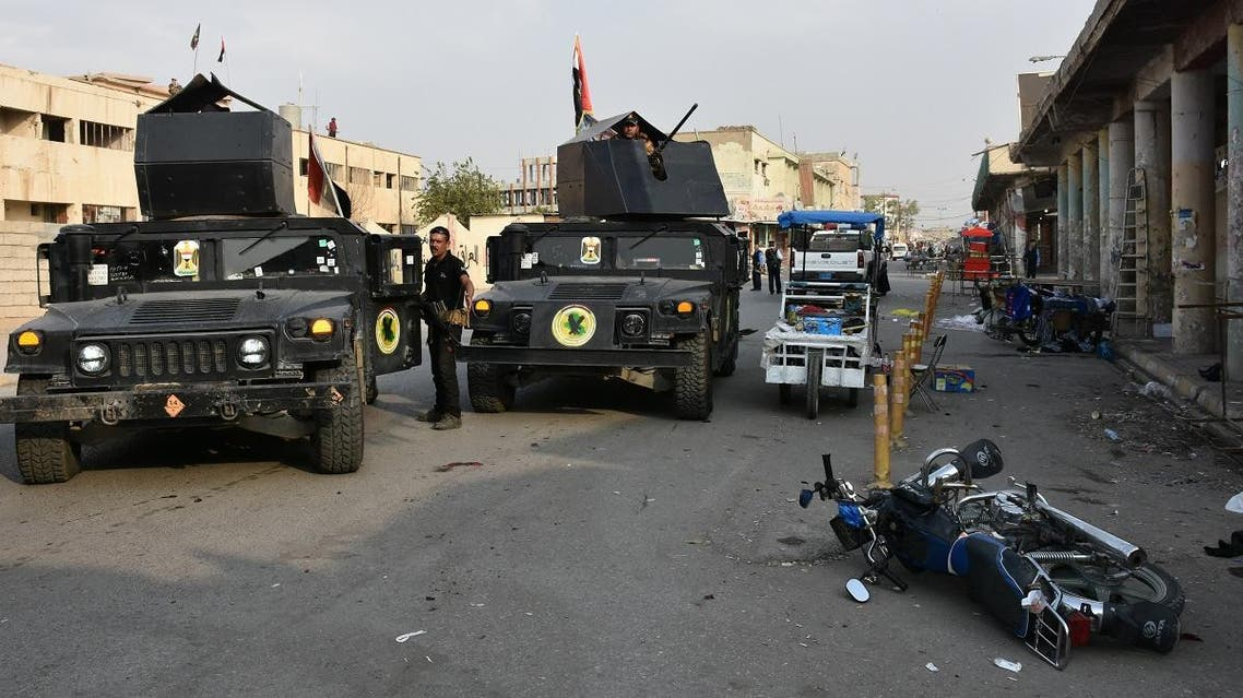 Iraqi security forces inspect the scene of a twin suicide attack at shopping area in Iraq's disputed Kirkuk city on November 5, 2017. (File photo: AFP)