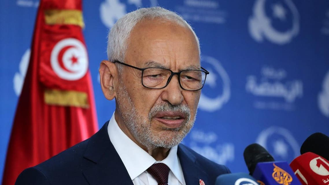 Tunisian Islamist-inspired Ennahdha party leader Rached Ghannouchi gives a press conferenc in reaction to the first exit polls of the legislative elections in the capital Tunis on October 6, 2019. (File photo: AFP)