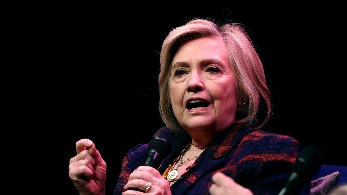 "Former US Secretary of State Hillary Clinton speaks during an event promoting ""The Book of Gutsy Women"" at the Southbank Centre in London. (Reuters)"