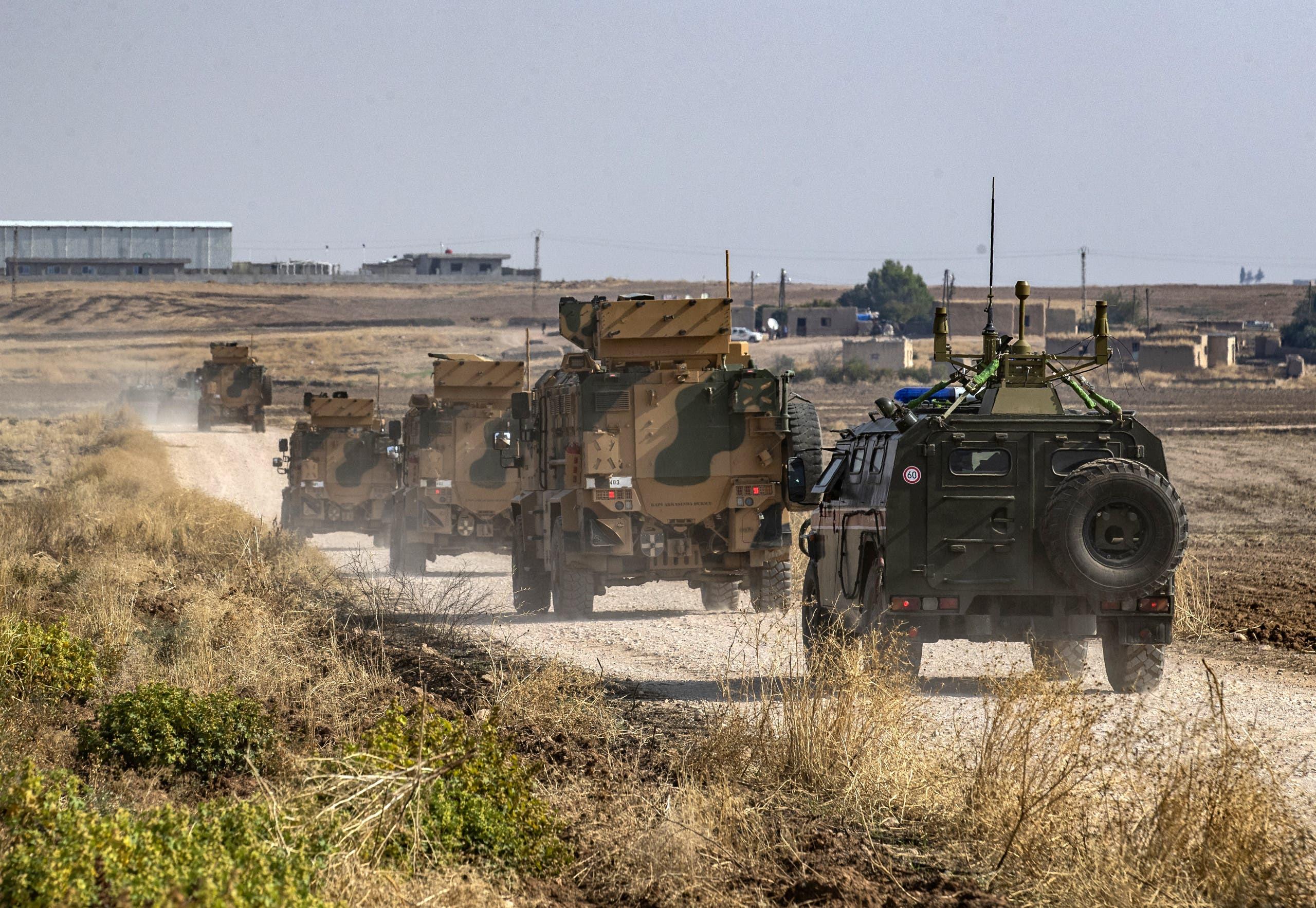 دوريات مشتركة روسية ـ تركية في الحسكة شمال سوريا (أرشيفية)