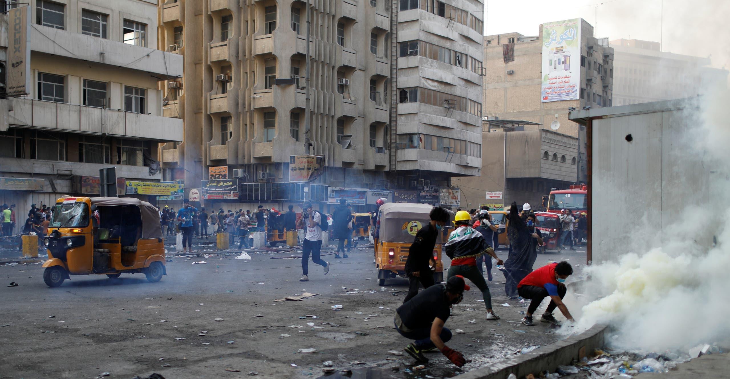 من احتجاجات بغداد الاثنين