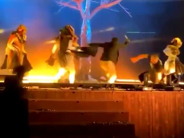 شرطة الرياض تلقي القبض على طاعن الفرقة المسرحية
