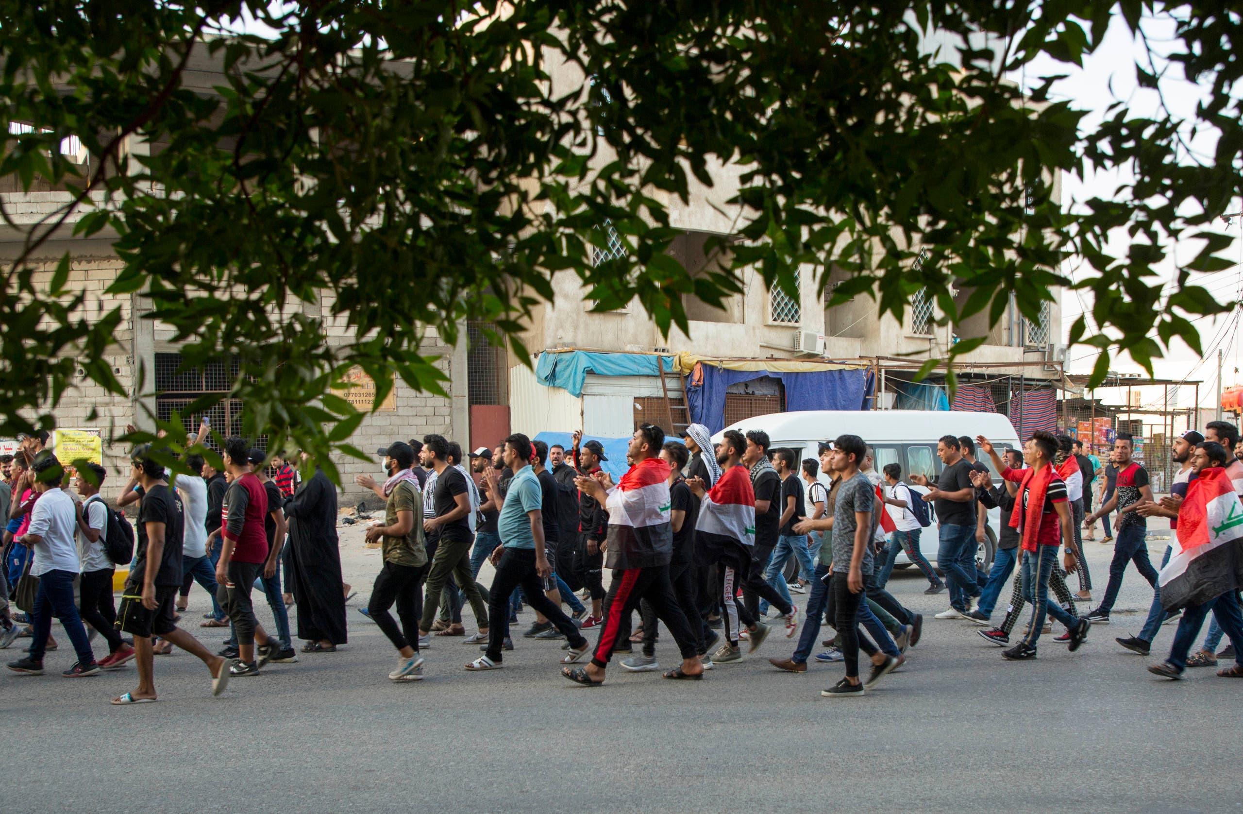 من احتجاجات البصرة الاثنين