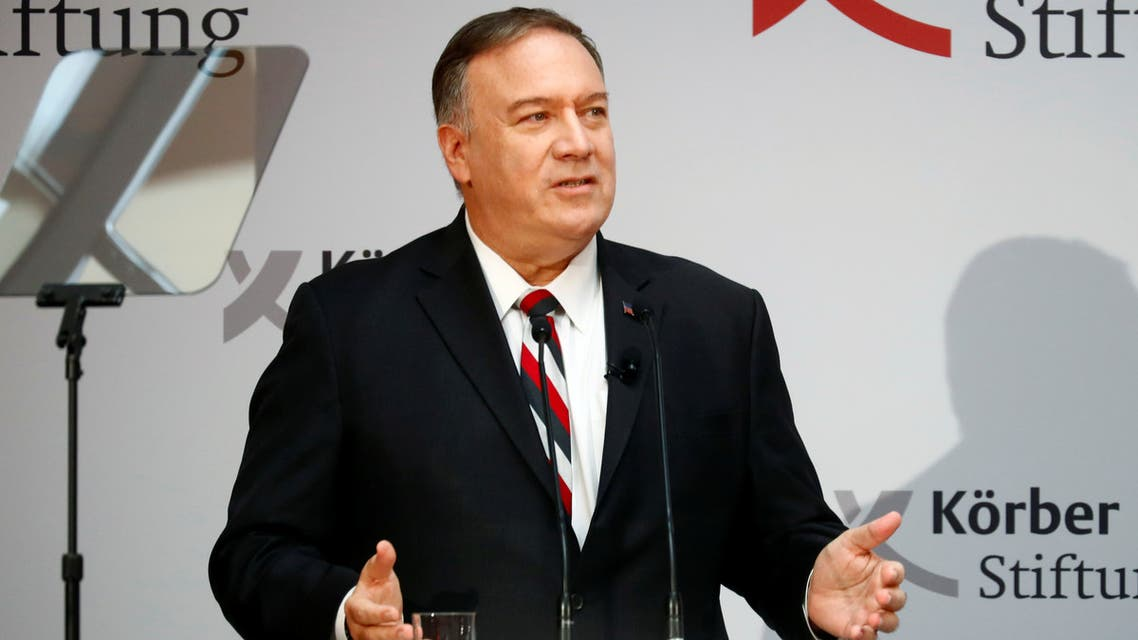 US Secretary of State Mike Pompeo Berlin Germany November 8 2019 REUTERS