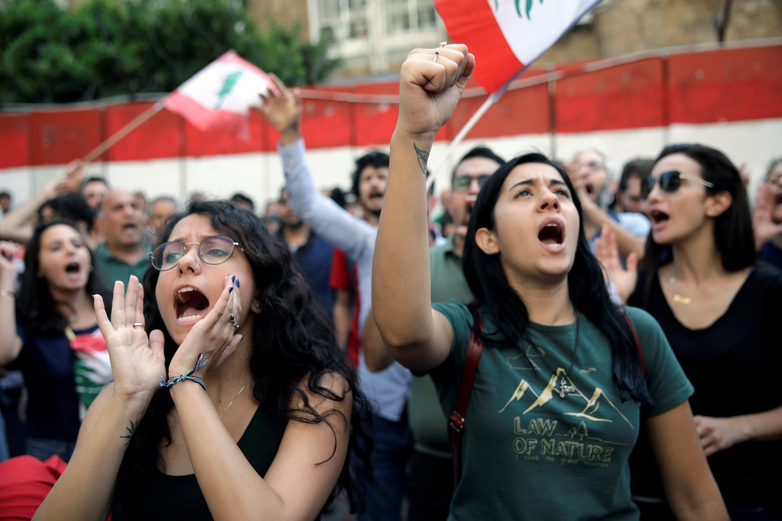من الاحتجاجات في بيروت
