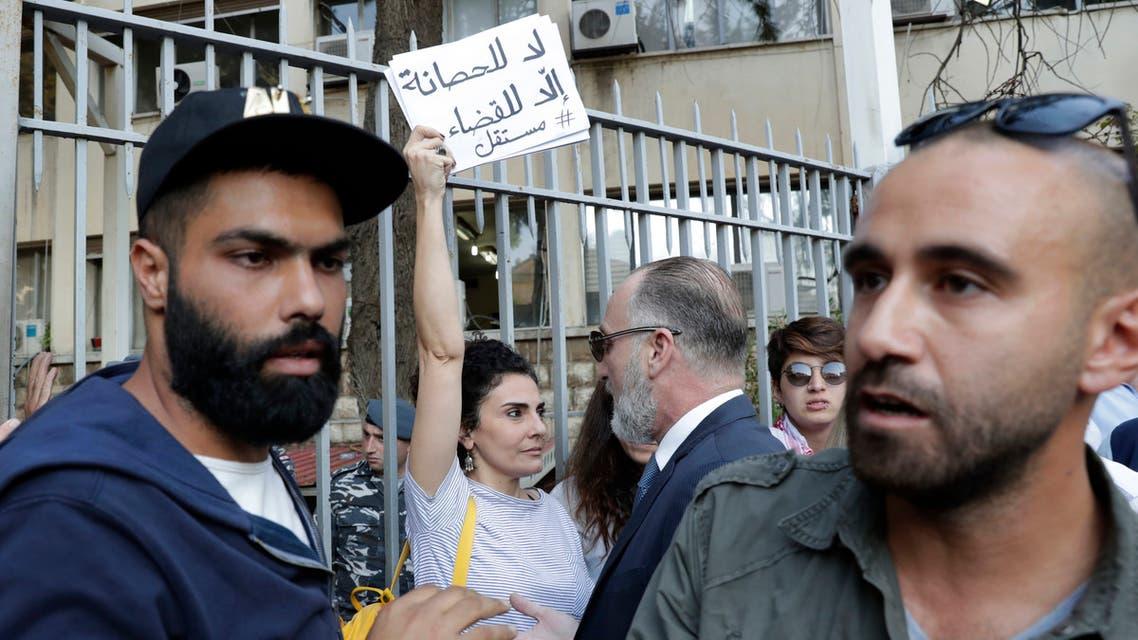 من أمام قصر العدل في بيروت