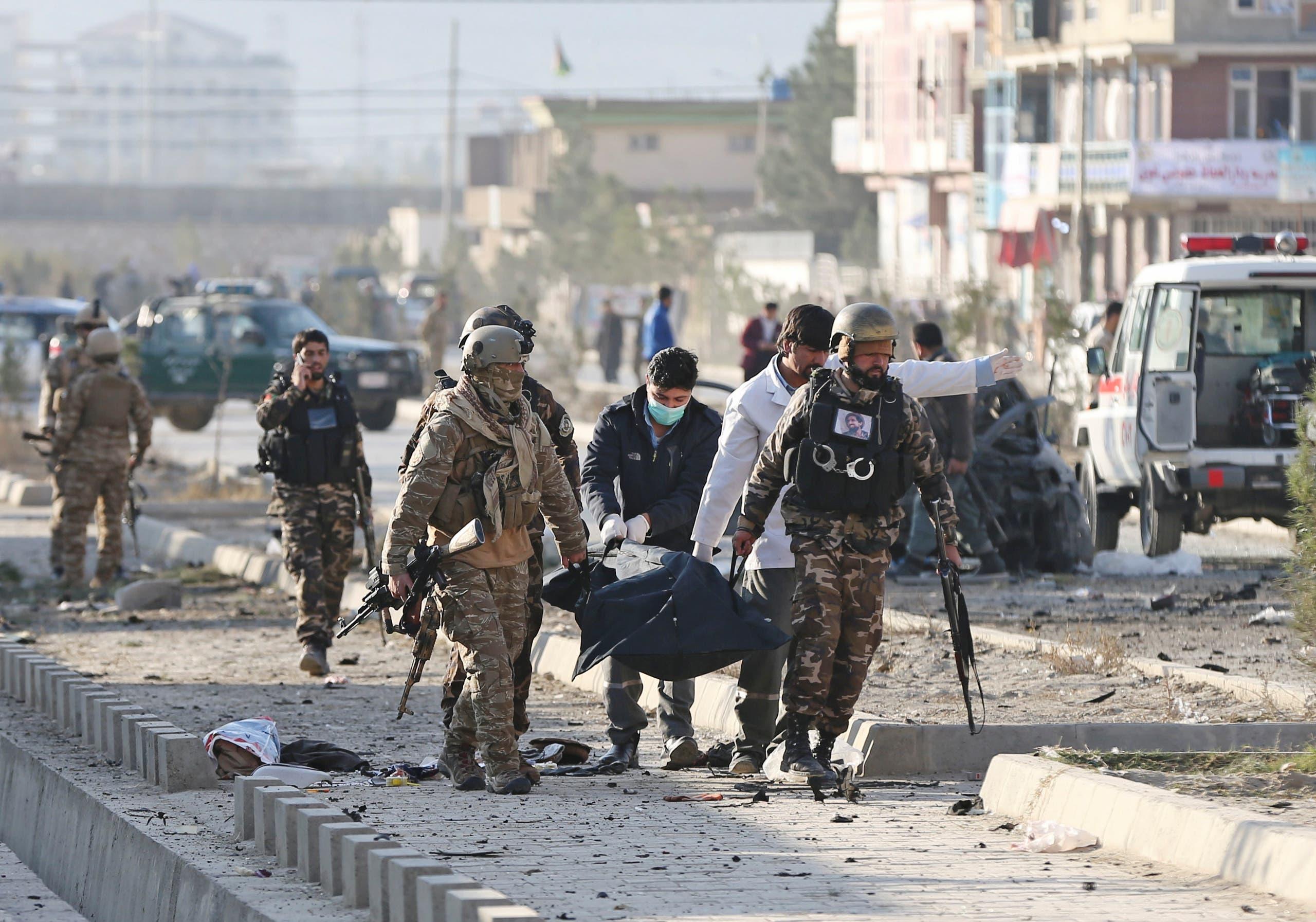 من موقع انفجار كابول