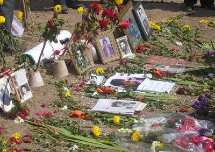 مقبرة جماعية لعدد لعدد من ضحايا الاعدامات الجماعية