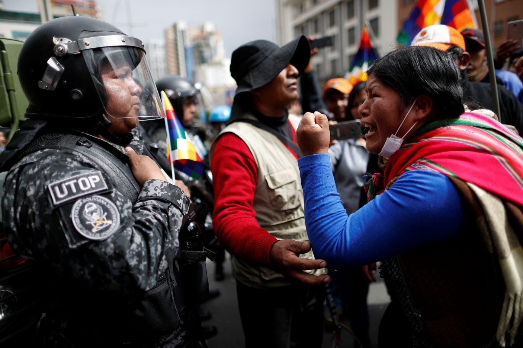 من تظاهرات بوليفيا
